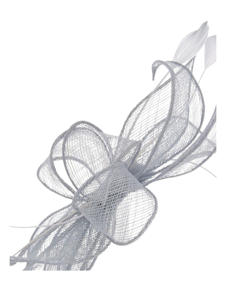 Sinemay Bow With Feathers Fascinator image 3