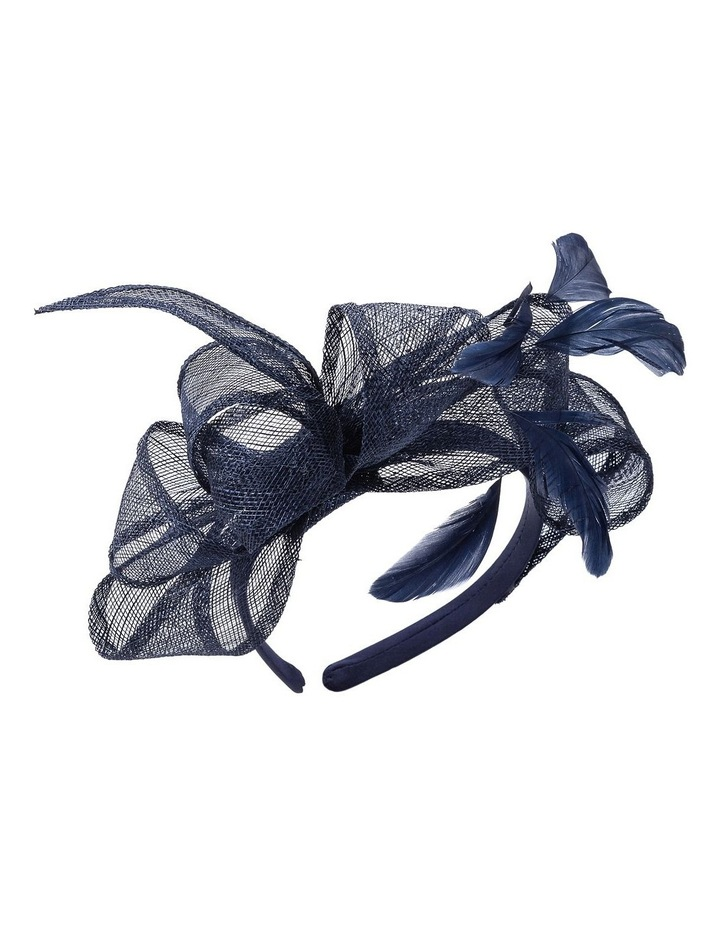 Sin Bow With Feathers On Band Fascinator image 2