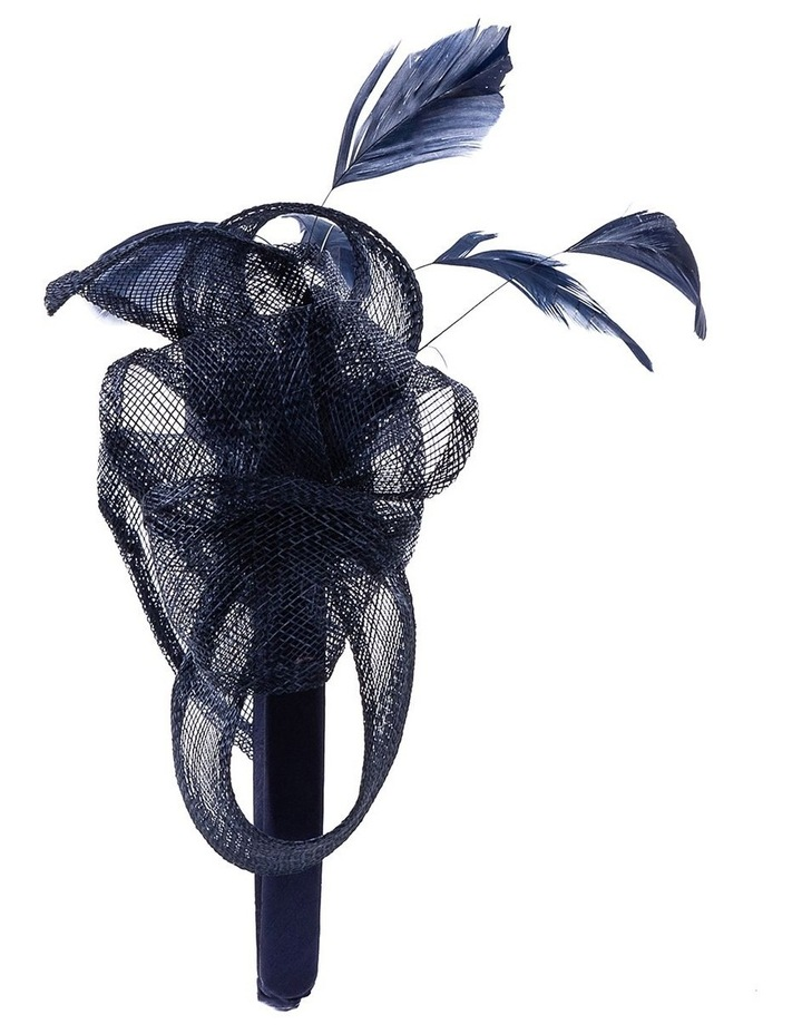 Sin Bow With Feathers On Band Fascinator image 3