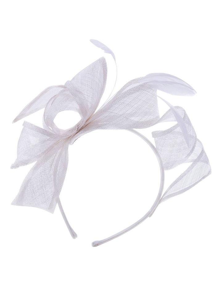 Sin Bow With Feathers On Band Fascinator image 1