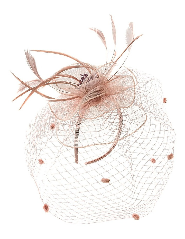 Crin Flower With Feathers And Spot Veil Fascinator image 2