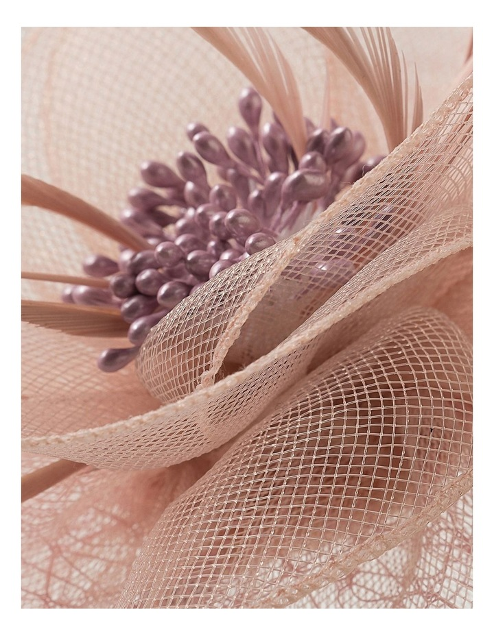 Crin Flower With Feathers And Spot Veil Fascinator image 3