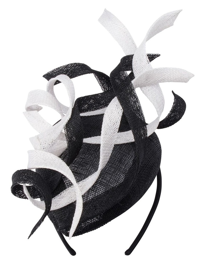 Cleo Sinamay Swirl Trimmed Button Fascinator image 1