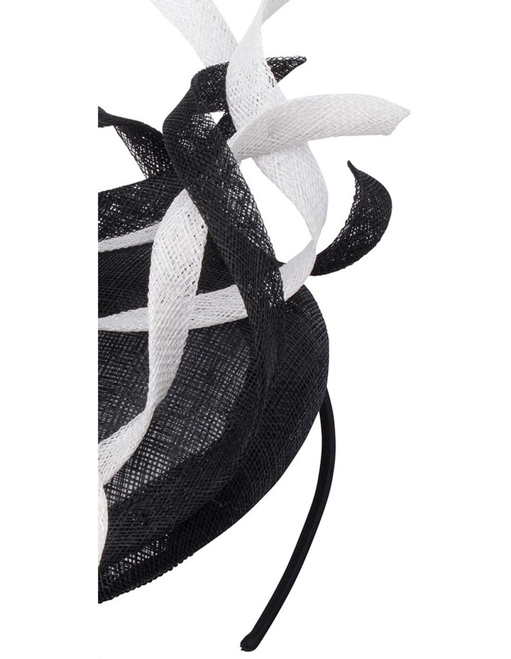 Cleo Sinamay Swirl Trimmed Button Fascinator image 2