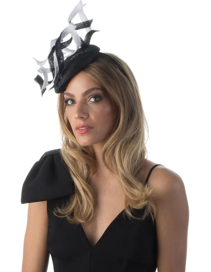 Cleo Sinamay Swirl Trimmed Button Fascinator image 3