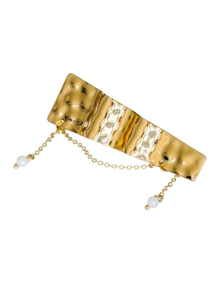 Gold Clip Ripple Pearl on Chain image 1