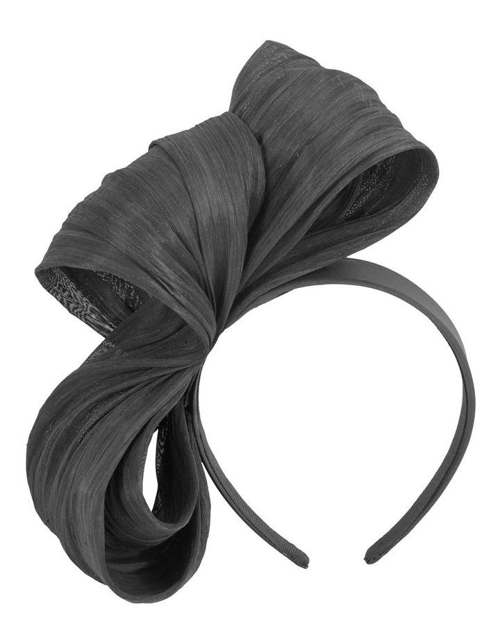 Large Silk Bow On Black Headband Fascinator image 1