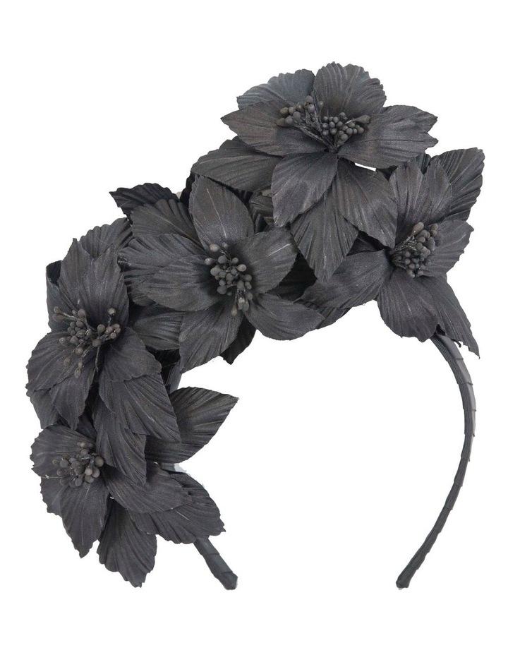 Flower Arrangement On Black Headband Fascinator image 1