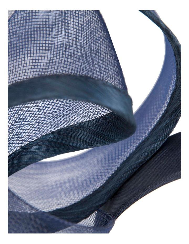 Twists Of Crinoline On Navy Headband Fascinator image 2