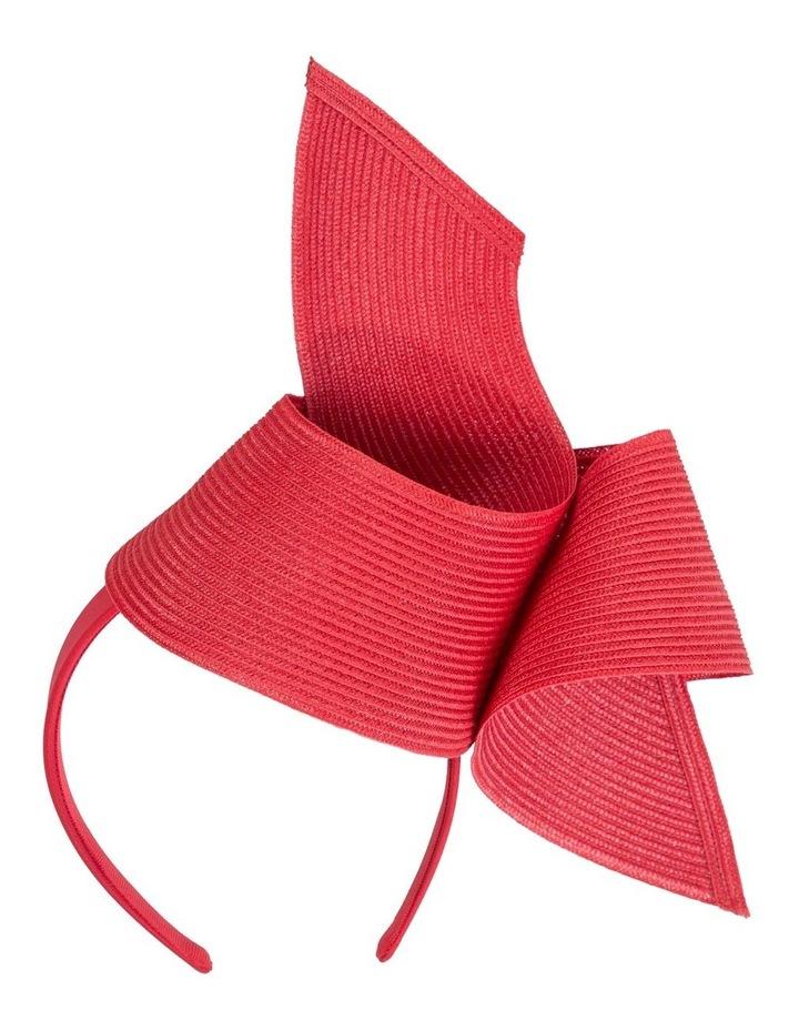 PU Leather Twist On Red Headband Fascinator image 1