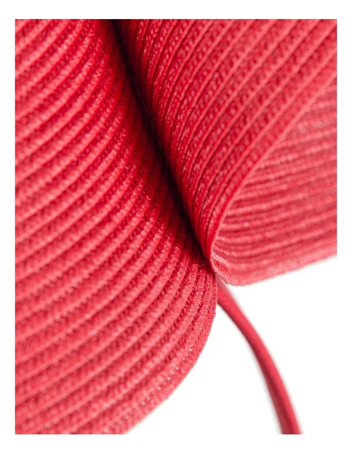 PU Leather Twist On Red Headband Fascinator image 2