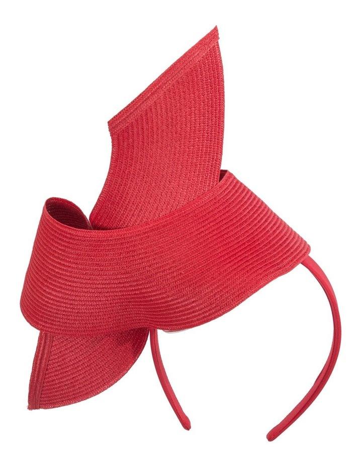 PU Leather Twist On Red Headband Fascinator image 4