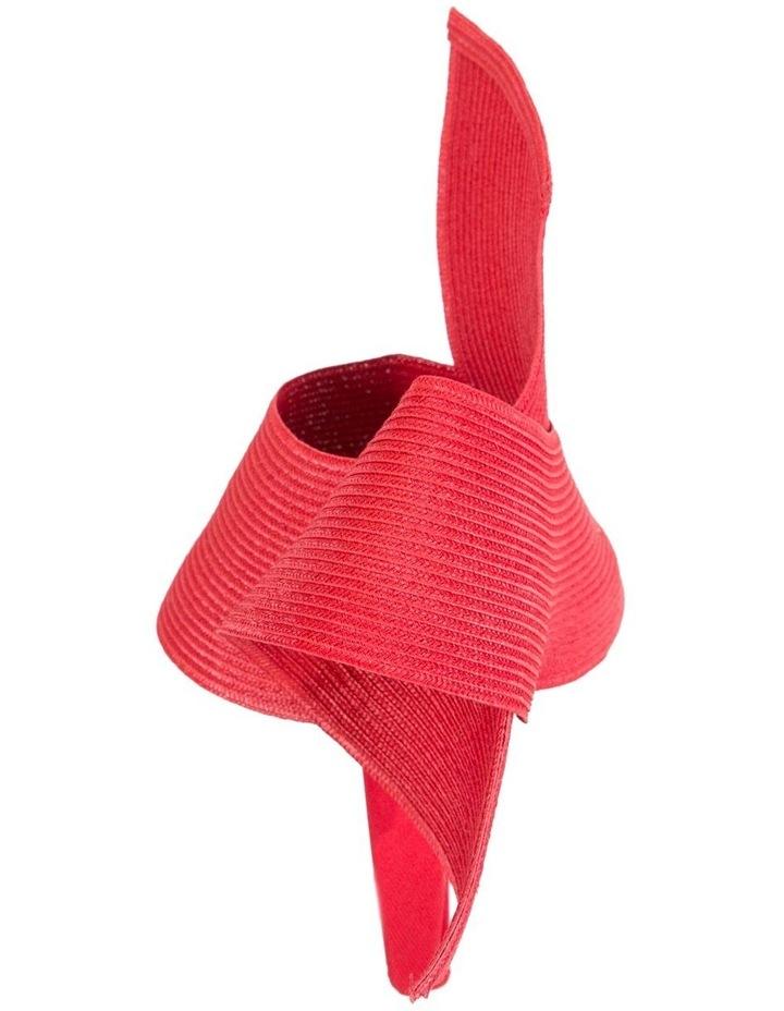 PU Leather Twist On Red Headband Fascinator image 5