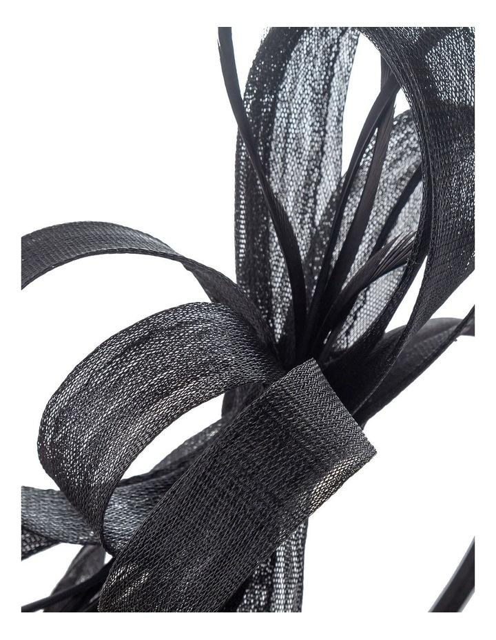 Crinoline Bow And Feathers On Black Headband Fascinator image 3