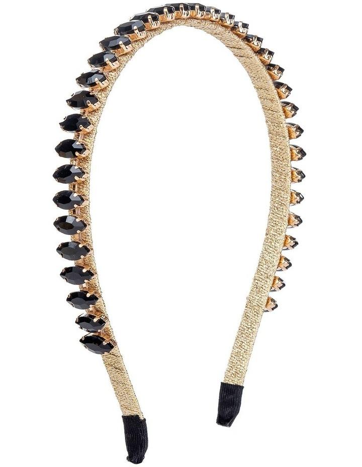 Marquise Stones On Black Headband image 2