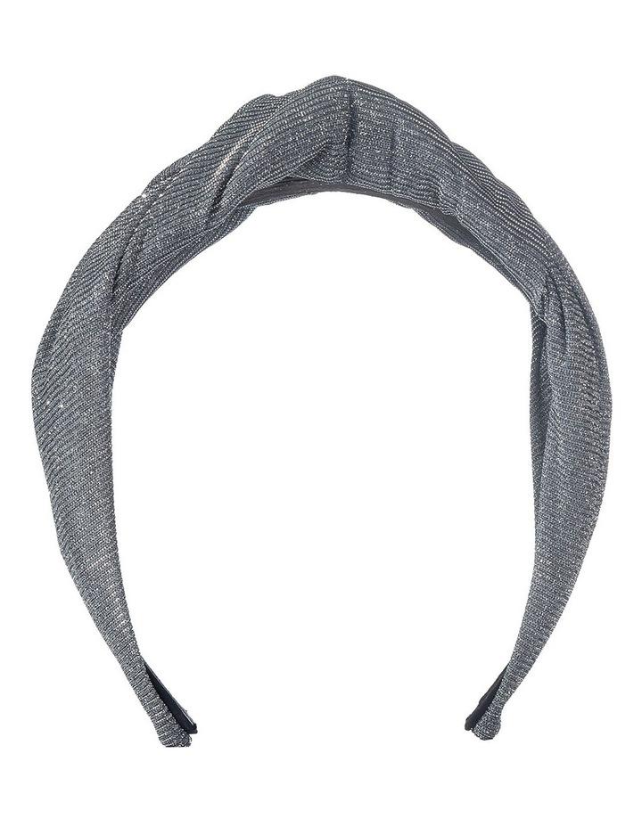 Lurex Draped Gunmetal Turban image 1