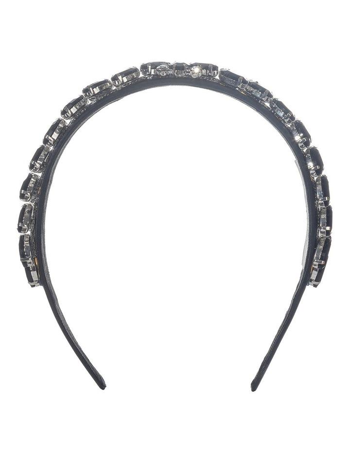 Jeweled Flower Black Headband image 1
