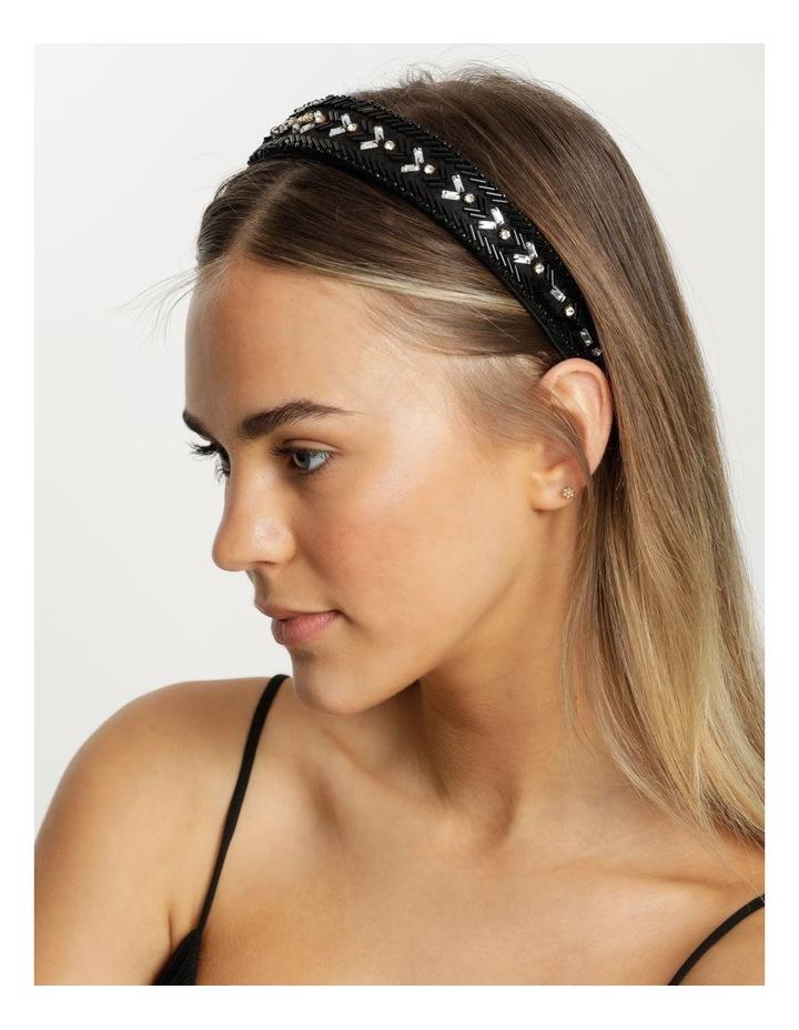Black And Gold Beaded Headband image 2