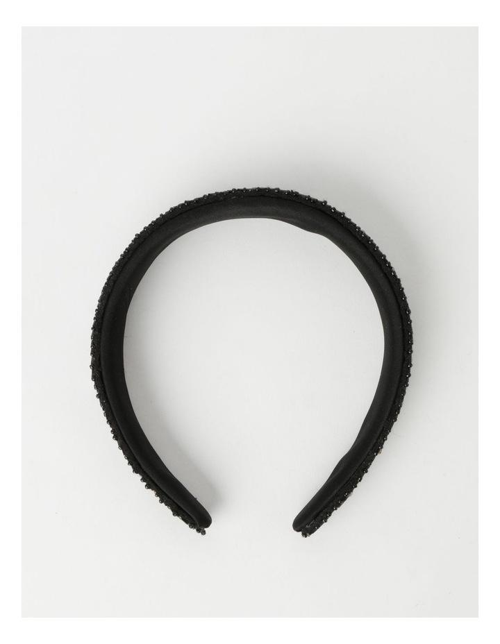 Black And Gold Beaded Headband image 3