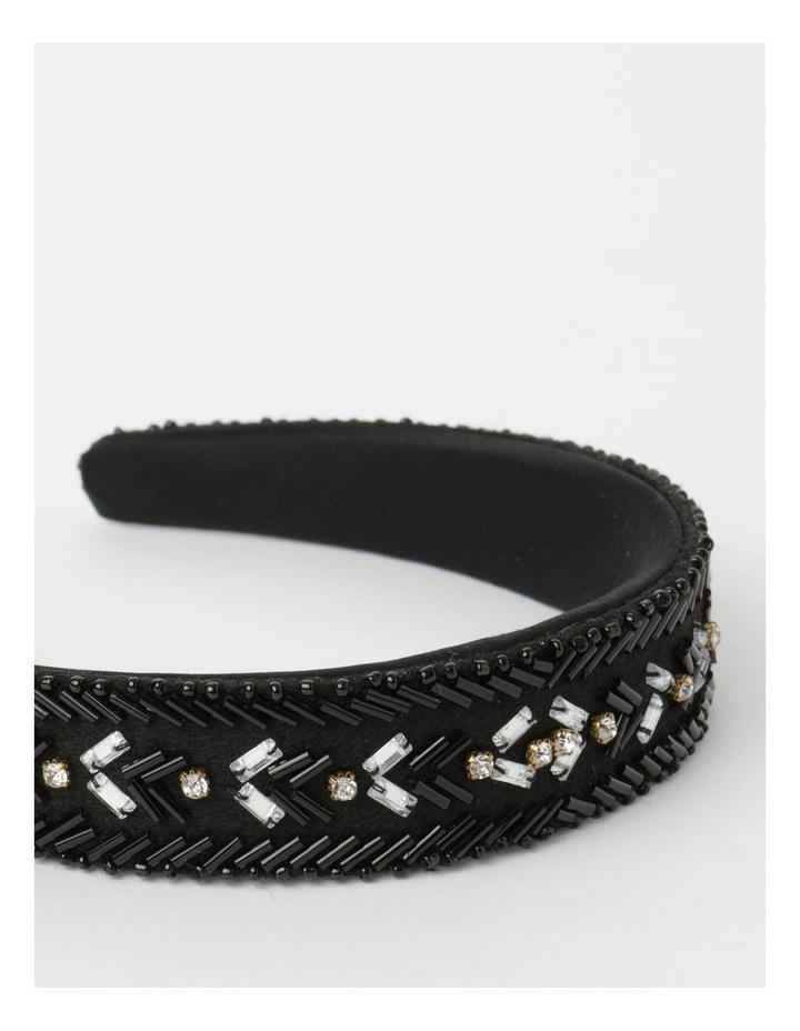 Black And Gold Beaded Headband image 5