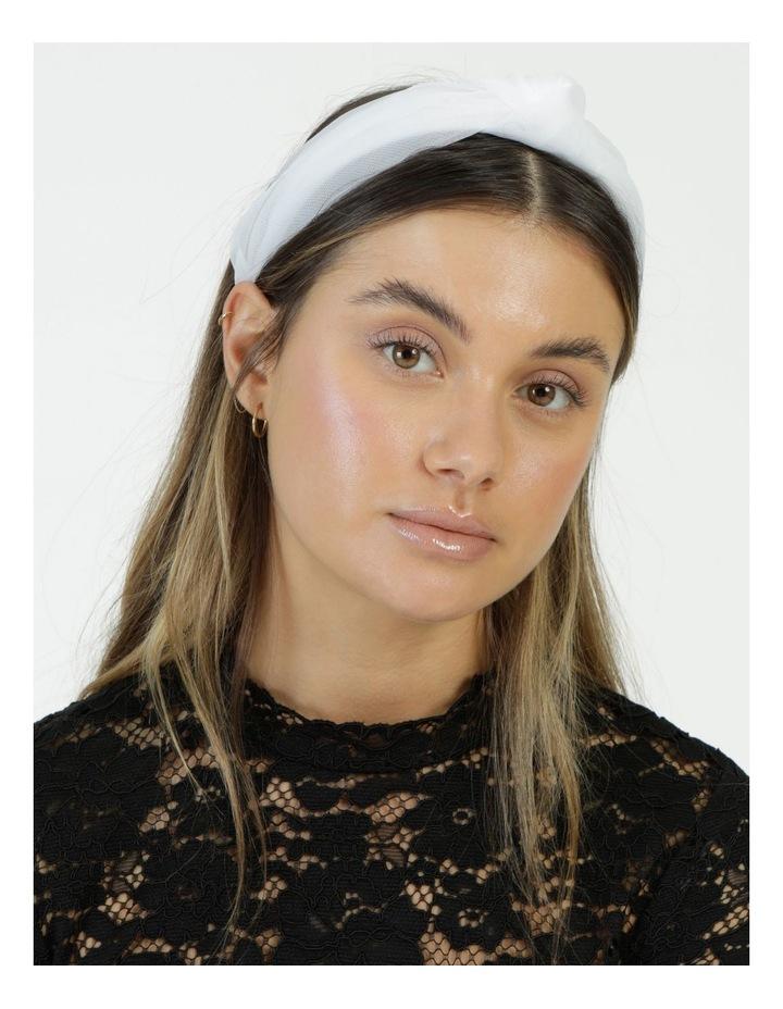 Knot Detailed White Headband image 2