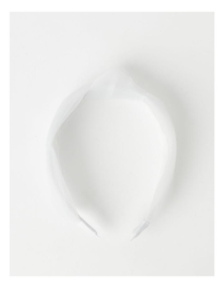 Knot Detailed White Headband image 4