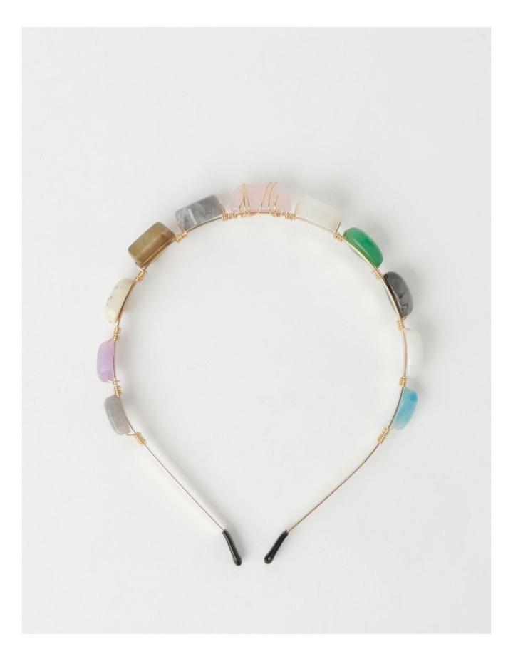Coloured Stone Headband image 3