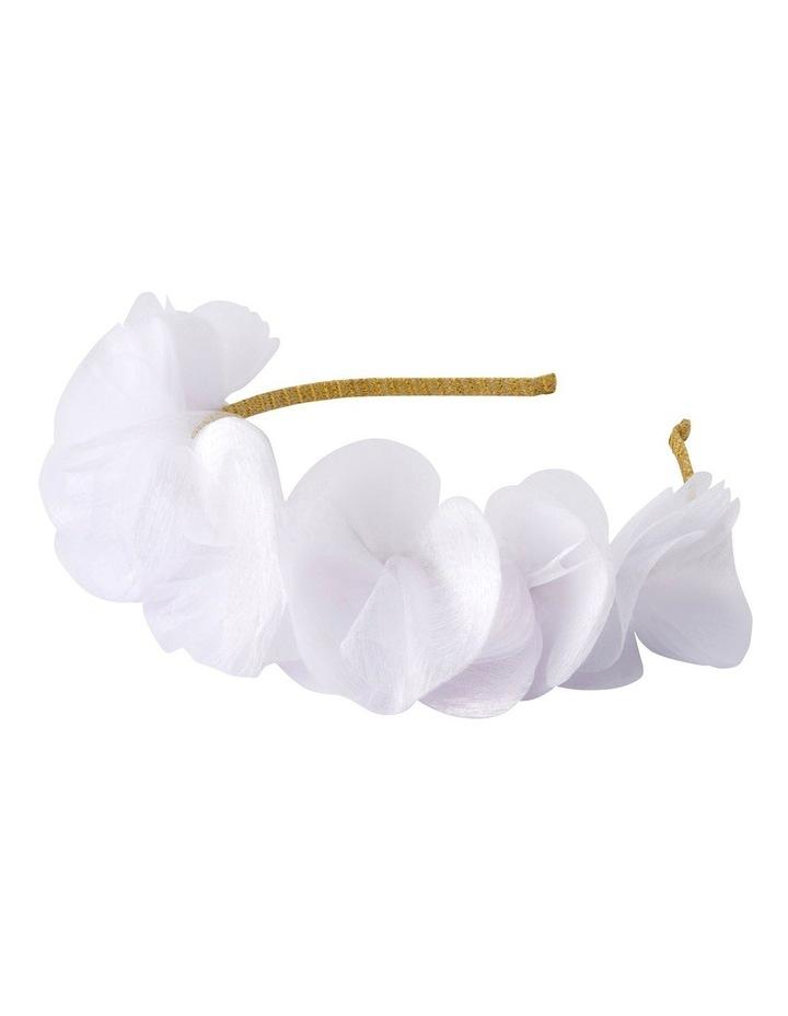 Lidia Organza White Petal Fascinator image 2