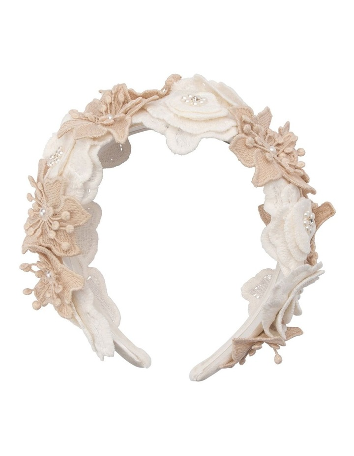 Laila Lace Flower And Beaded Headband image 1