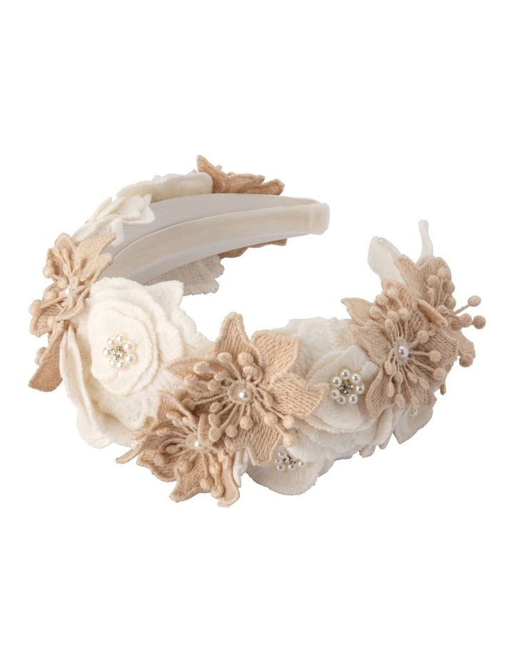 Laila Lace Flower And Beaded Headband image 2