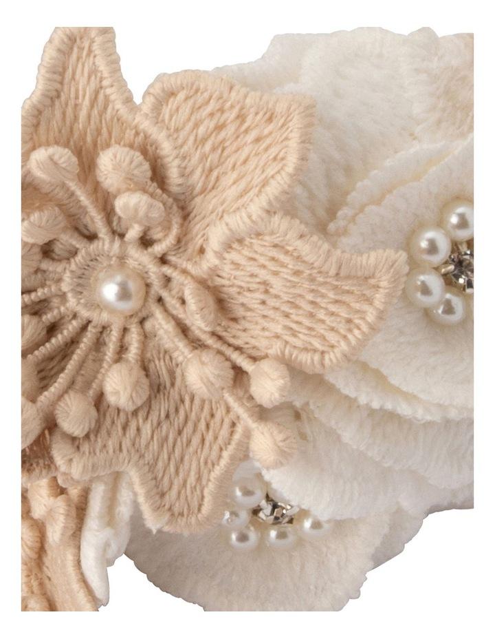 Laila Lace Flower And Beaded Headband image 3