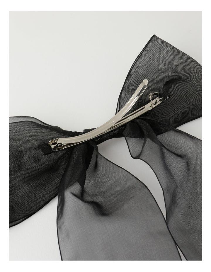 Organza Black Bow Clip image 2