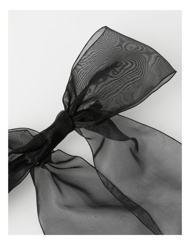 Organza Black Bow Clip image 3