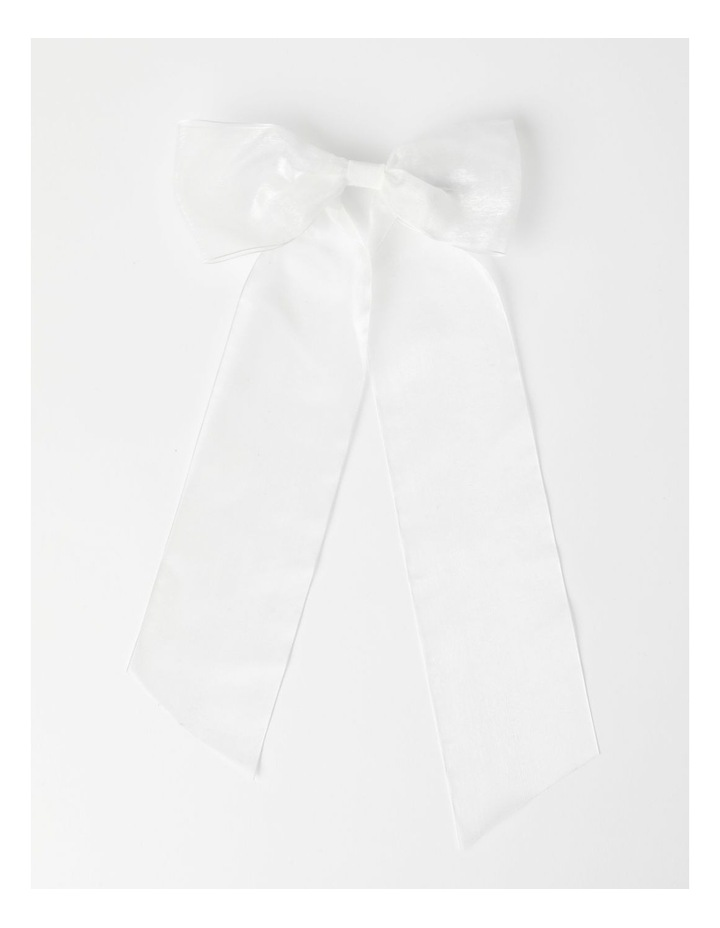 Organza White Bow Clip image 1