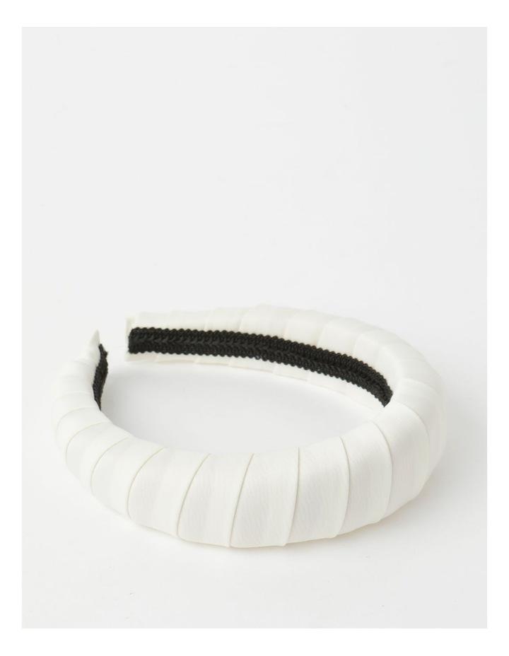 Padded Satin White Headband image 1