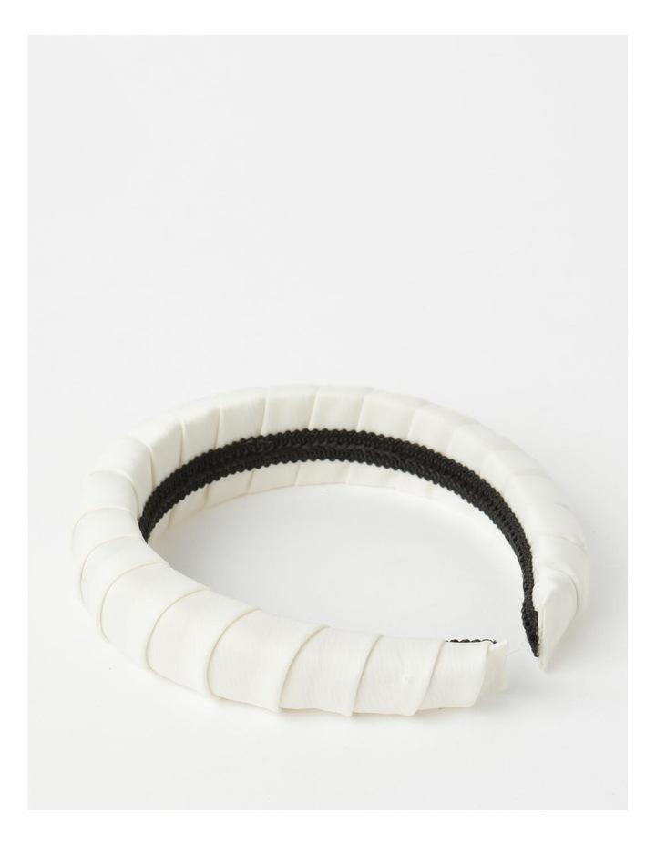 Padded Satin White Headband image 3