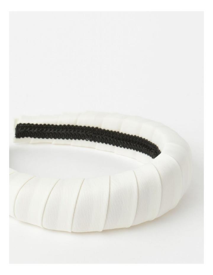 Padded Satin White Headband image 4