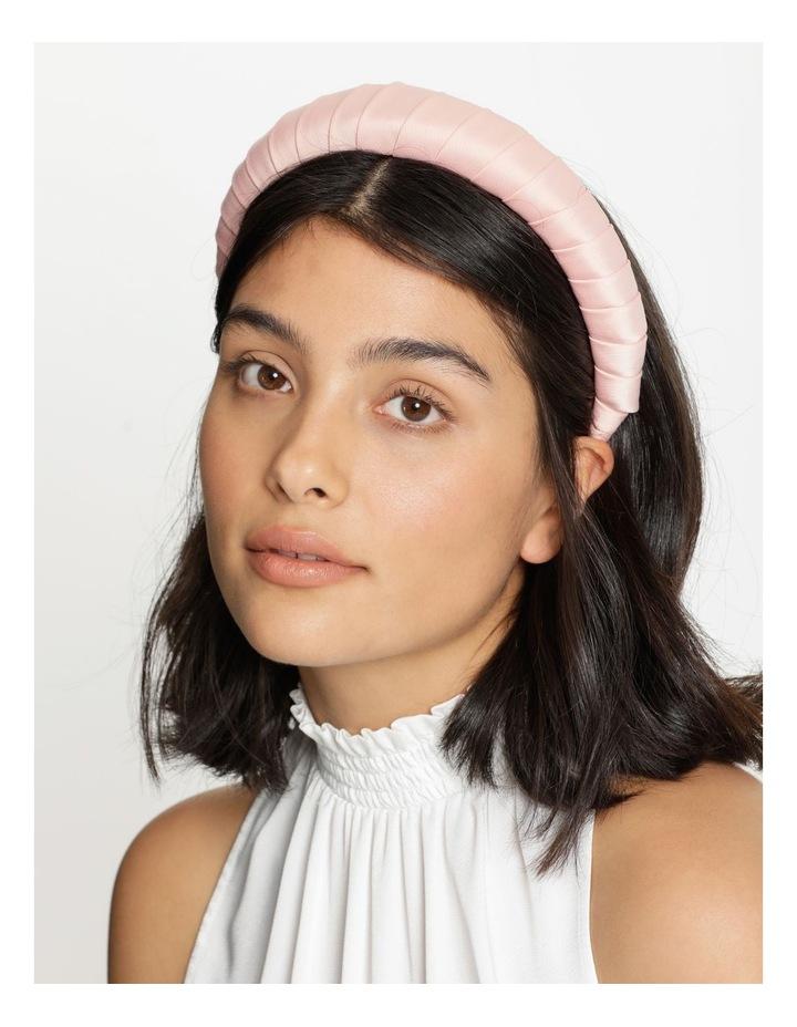 Padded Satin Dusty Pink Headband image 2
