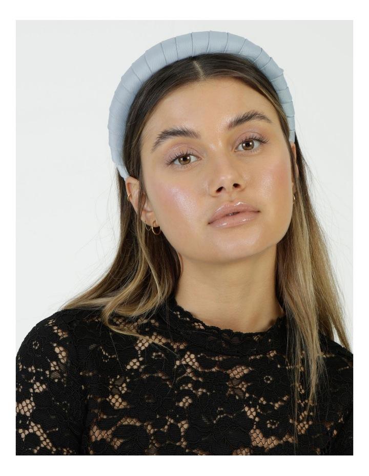 Padded Satin Pale Blue Headband image 2