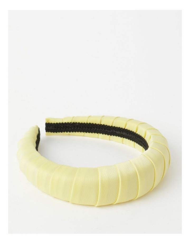 Padded Satin Yellow Headband image 1