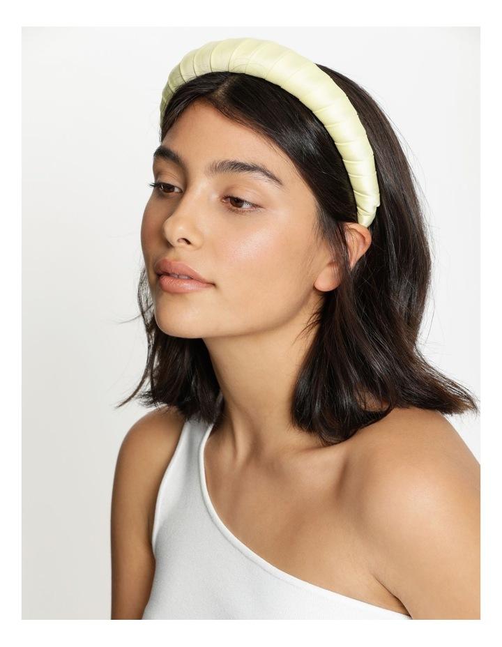 Padded Satin Yellow Headband image 2