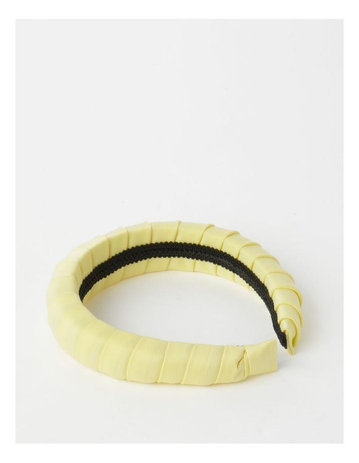 Padded Satin Yellow Headband image 5
