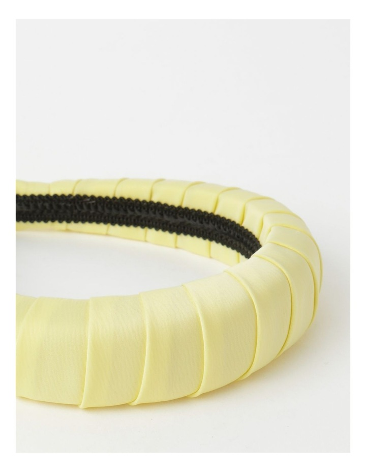 Padded Satin Yellow Headband image 6