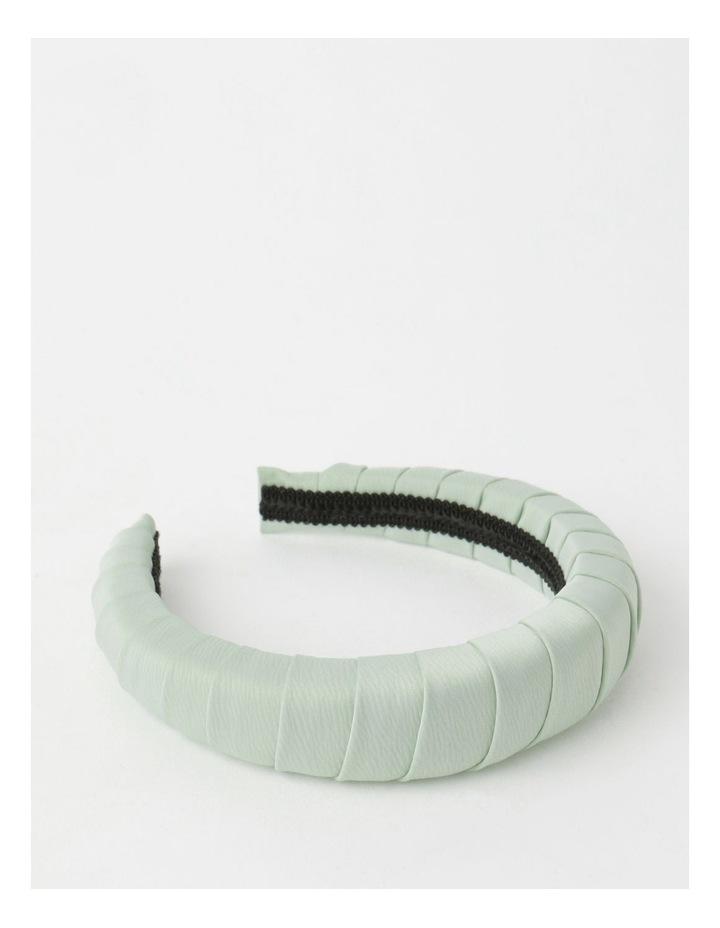 Padded Satin Mint Headband image 1