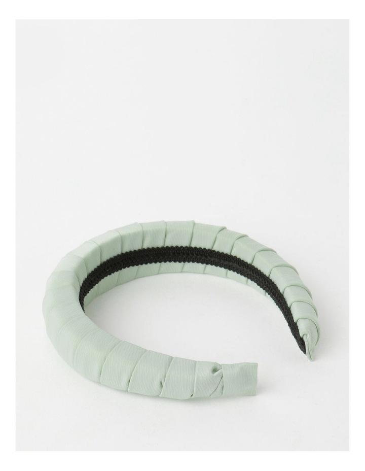 Padded Satin Mint Headband image 3