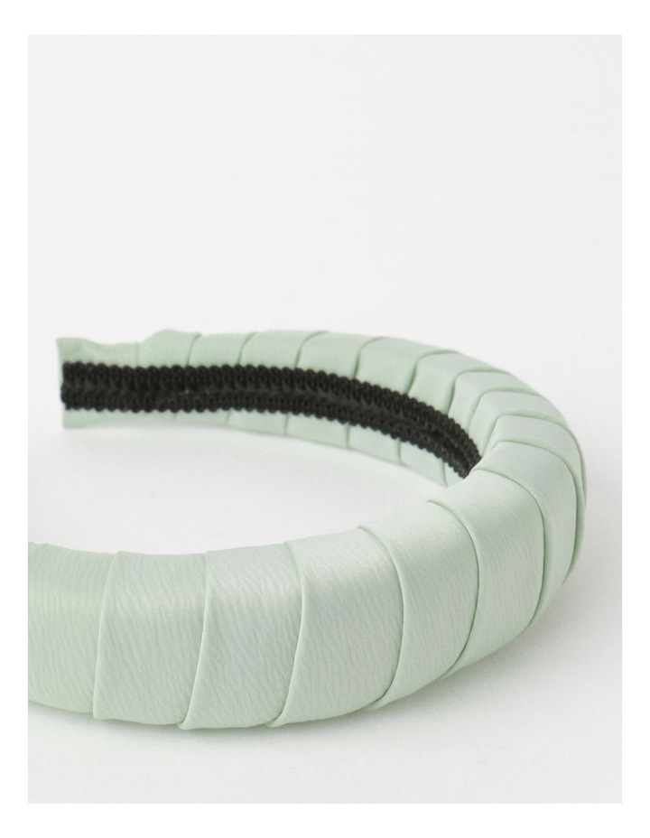 Padded Satin Mint Headband image 4