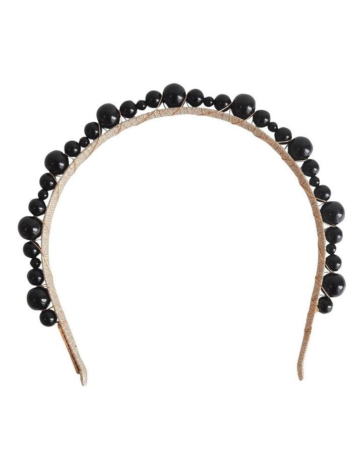 Mia Pearl Black Headband image 1