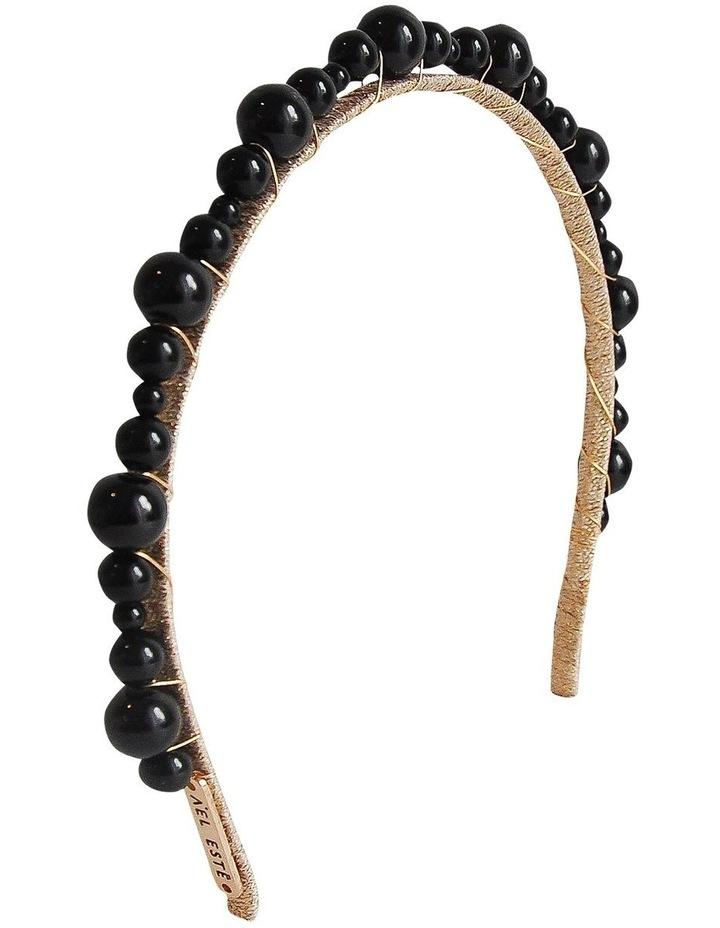 Mia Pearl Black Headband image 2