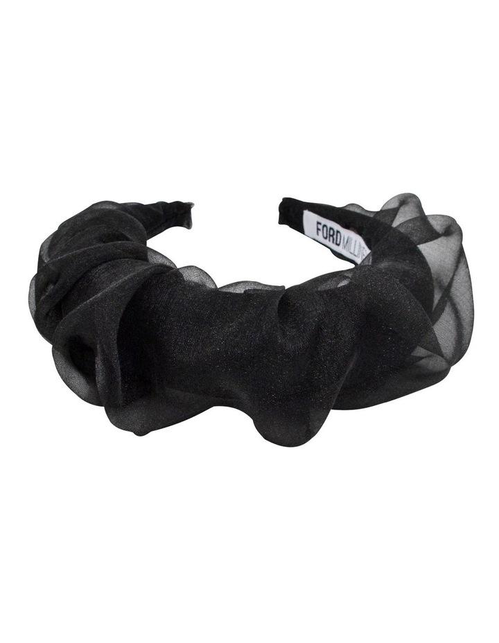 Organza Covered Padded Black Headband image 2