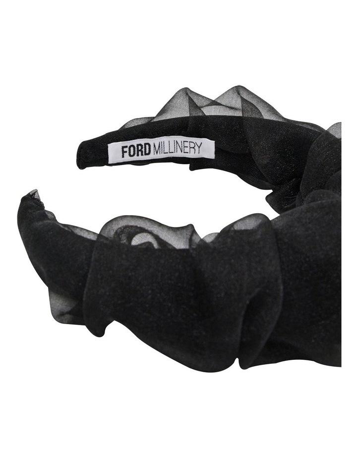 Organza Covered Padded Black Headband image 3